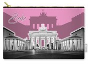 Berlin Brandenburg Gate - Graphic Art - Pink Carry-all Pouch