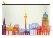 Berlin Landmarks Watercolor Poster Carry-all Pouch