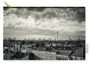 Berlin Skyline And Roofscape -black And White Carry-all Pouch
