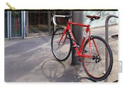 Berlin Street View With Red Bike Carry-all Pouch by Ben and Raisa Gertsberg