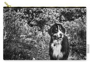 Bernese Mountain Dog Black And White Carry-all Pouch