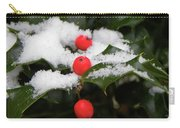 Berries In Snow Carry-all Pouch