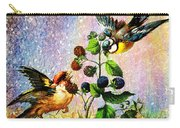 Berries And Birds Carry-all Pouch