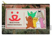 Best Friends Animal Sanctuary Angel Canyon Knob Utah Signage 03 Carry-all Pouch
