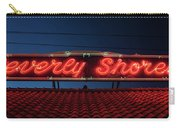 Beverly Shores Indiana Depot Neon Sign Panorama Carry-all Pouch