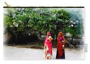 Bff Best Friends Pregnant Women Portrait Village Indian Rajasthani 1 Carry-all Pouch
