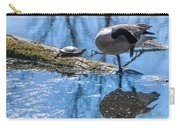 Bff Turtle And Canda Goose Carry-all Pouch