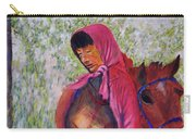 Bhutan Series - Woman With The Horse Carry-all Pouch