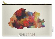 Bhutan Watercolor Map Carry-all Pouch