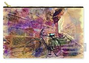Bicycle Abandoned In India Rajasthan Blue City 1a Carry-all Pouch
