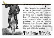 Bicycle Ad, 1880 Carry-all Pouch