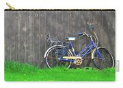 Bicycle And Gray Fence Carry-all Pouch