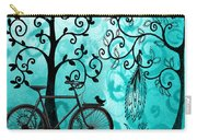 Bicycle In Whimsical Forest Carry-all Pouch