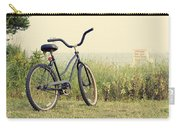 Bicycle On Beach Summer's On The Coast Carry-all Pouch