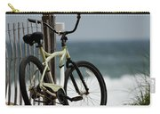 Bicycle On The Beach Carry-all Pouch by Julie Niemela