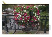 Bicycle Parked At The Bridge In Amsterdam Carry-all Pouch