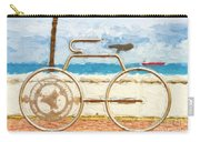 Seaside Bicycle Stand Carry-all Pouch