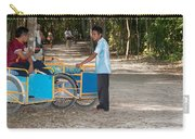 Bicycle Taxi Inside The Coba Ruins  Carry-all Pouch