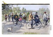 Bicycle Tourists, 1896 Carry-all Pouch by Granger