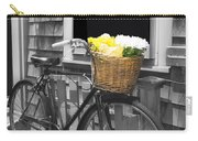 Bicycle With Flower Basket Carry-all Pouch