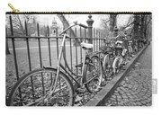 Bicycles Parked At Fence On Street, Netherlands Carry-all Pouch