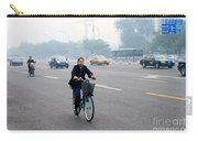 Bicyclist In Beijing Carry-all Pouch