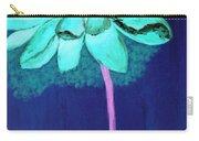 Big Aqua Flower Carry-all Pouch