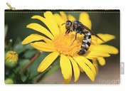 Big Bee On Yellow Daisy Carry-all Pouch