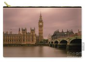 Big Ben And Westminster Bridge, London Carry-all Pouch