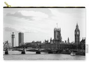 Big Ben, Parliament And Thames River Carry-all Pouch