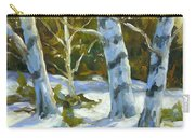Big Birches In Winter Carry-all Pouch