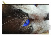 Big Blue Eyes Cat Carry-all Pouch