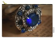 Big Blue Ornamented Ring Carry-all Pouch
