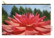 Big Dahlia Flower Blooming Summer Floral Art Prints Baslee Troutman Carry-all Pouch
