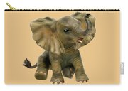 Beautiful African Baby Elephant Carry-all Pouch