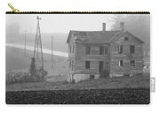 Big Old House In Fog - Bw Carry-all Pouch