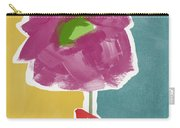 Big Purple Flower In A Small Vase- Art By Linda Woods Carry-all Pouch