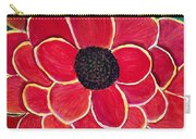 Big Red Zinnia Flower Carry-all Pouch