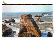 Big Rocks In Grey Water Painting Carry-all Pouch