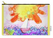 Big Sun And Sailboat Carry-all Pouch
