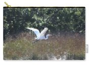 Big White Bird Flying Away Carry-all Pouch