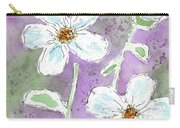 Big White Flowers Carry-all Pouch