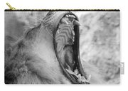 Big Yawn  Black And White Carry-all Pouch