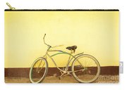 Bike And Yellow Wall Carry-all Pouch