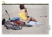 Bike On The Beach Carry-all Pouch