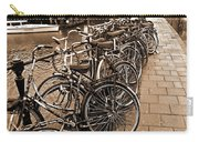 Bike Parking -- Amsterdam In November Sepia Carry-all Pouch