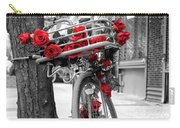 Bike With Red Roses Carry-all Pouch