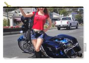 Biker Girl. Model Sofia Metal Queen Carry-all Pouch