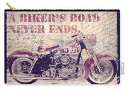 Biker's Road Never Ends Carry-all Pouch