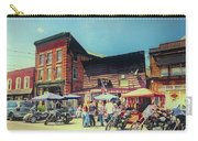 Bikes And Brews A Vintage Postcard Carry-all Pouch